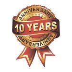 Значок годовщина 10 лет